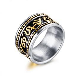 Men's Rings Stainless Steel Gothic Party Rings For Men Retro Style