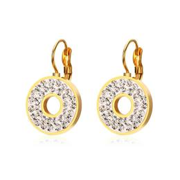 Elegant Earrings For Women Vintage Dual Circle Round Drop Earrings