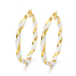 Gold-color Big Hoop Earrings For Women Jewelry Fashion Female Earrings