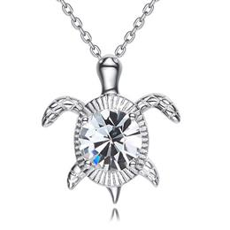 Necklace Women Pendants S925 Sterling Silver Jewelry Retro Turtle Shape