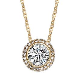 Necklaces Women Pendants Round Shaped Jewelry Austrian Rhinestone New