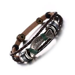 New 22cm Length Charm Leather Rope Bracelets For Men Jewelry Men Leather Bracelets