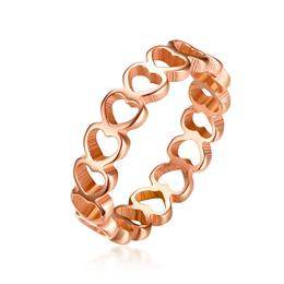 Engagement Ring Heart Female Jewelry Rose Gold Color  Ring