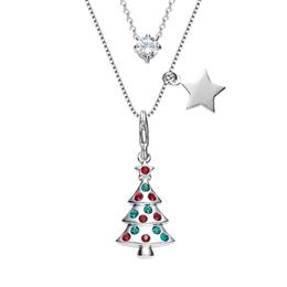 Pendants Christmas Tree Shape Necklace With Swarovski Elements