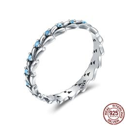 Real 100% 925 Sterling Silver Stackable Ring Wheat Wave Rings