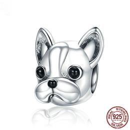 925 Sterling Silver Loyal Partners Doggy Animal Beads fit Women Charm
