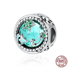 Fashion New Genuine 925 Sterling Silver Mystery Ocean Charms Beads