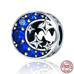 Fashion New Authentic 925 Sterling Silver Star Moon Legend Clearly CZ Beads