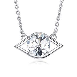 Crystals From Swarovski Necklace Women Pendant S925 Sterling Silver Jewelry