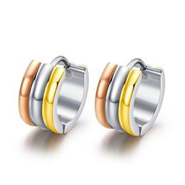 Small Hoop Earrings For Women Stainless Steel Metal Earings Fashion