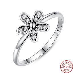 Fashion Elegant Original 925 Sterling Silver Dazzling Daisy Flower Ring