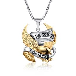 Eagle Necklace Pendant For Men Stainless Steel Metal Necklace
