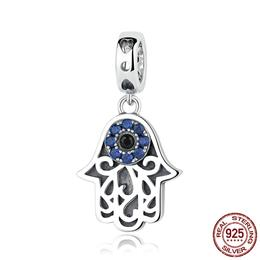 Eye Design Series 100% 925 Sterling Silver Blue Wicked Eye Pendant