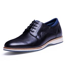 New Lace Up Pointed Toe Black Male Shoes Men's Dress Leather Shoes