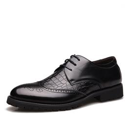 Fashion Genuine Leather Men Shoes Business Formal Oxfords Vintage Weddi...