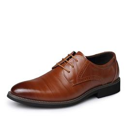 Top Genuine Leather Men Fashion Business Oxfords Shoes