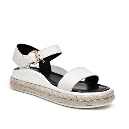 Genuine Leather Sandals Women Summer Heel Buckle Sandals Ladies Shoes Ha...