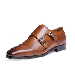 Classic British Style Mens Buckle Strap Leather Shoes Fashion Dress Shoes