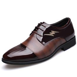 Hot Sale Men Dress Formal Shoes Fashion Wedding Lace-up Flats Oxford Shoes
