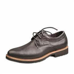 Black Leather Formal Shoes For Men Lace-up Dress Shoes Luxury Brand Oxfords Shoes
