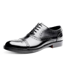Fashion Men's Genuine Leather Oxford Shoes Summer Leather Shoes Male Lace Up