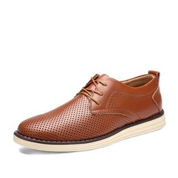 Summer Men Fashion Breathable Dress Shoes Men Business Flats Oxfords Shoes