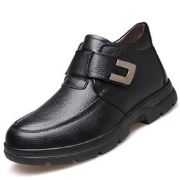 Genuine Leather Shoes Men Snow Boots Casual Male Ankle Shoes Comfortable