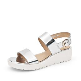Genuine Leather Women Sandals Platform Slingback Buckle Strap Summer Casual Wedges Shoes