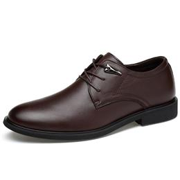 Plus Size Genuine Leather Dress Shoes Solid Men Flats Shoes