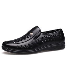Summer Men's Casual Shoes Genuine Leather Fashion High Quality Business Shoes