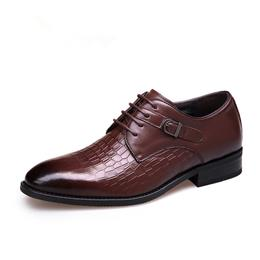 Men Dress Shoes Fashion Genuine Leather Lace-Up Flat Male Oxford Shoes Party Wedding Shoes