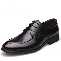 New Fashion Men Wedding Dress Shoes Black Shoes Lace-up Men's Shoes