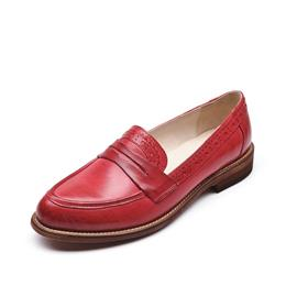 Penny Loafer Women Sheepskin Moccasin Genuine Leather Slip On Pointed Toe Flats