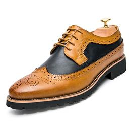 Men's Fashion Brogue Shoes Men Office Dress Driving Oxfords Shoes