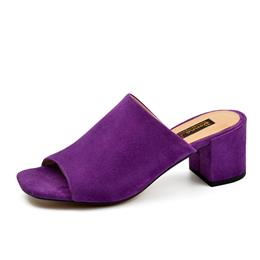 New Summer Style Fish Mouth Suede Women's Cool Simple Elegance Sandals