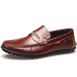Fashion Business Men's Dress Shoes Formal Shoes Slip-On Leather Men Flats