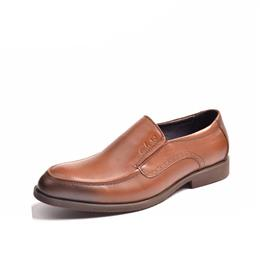 Mens Brown Mens Dress Shoes New Round Toe Rubber Slip-on Mens Shoes