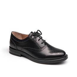 Oxford Shoes Women Fashion Lace-Up Round Toe Brogue Style Ladies Flats