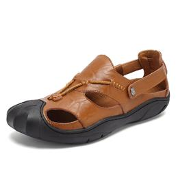 Comfortable Soft Genuine Leather Popular Men Sandals Summer 2017 Beach Casual Brand