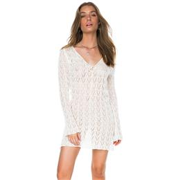 Sexy Beachwear Hollow Out White Crochet Tunic Beach Dress