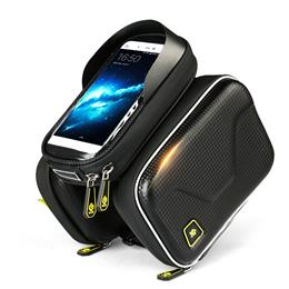 Waterproof Touch Screen Bicycle Bag Frame Front Top Bike Bag Double Pouch Cycling Bag