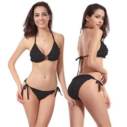 Ring Center Top Scrunch Bikini Bottom Female Swimsuit