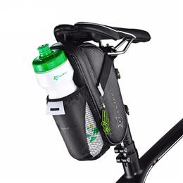 Bike Bicycle Rainproof Rear Bag With Water Bottle Pocket Bicycle Tail Bag