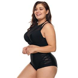 Sexy Plus Size Swimwear women High Waist Swimsuit