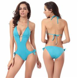 Hot Push Up Foam Cup Bathing Suit 2018 Sexy Women's One Piece Swimsu...