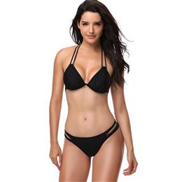Sexy Halter Bandage Bikini Sets Swimwear Women Push Up Bikini