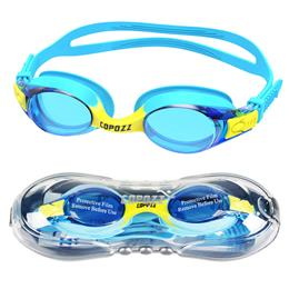 Swimming Goggles Kids Age 3-12 Waterproof Swimming Glasses Clear Anti-fog UV Protection