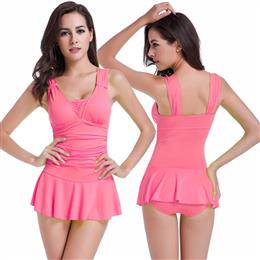 Wrap Dress Push Up Swimwear Hip-up Swimming Suits For Women