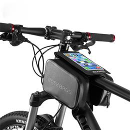 "Waterproof Bicycle Touch Screen MTB Bike Bag Top Tube Frame 6.0"" Ph..."