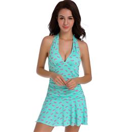 Watermelon Print Female Swimwear Large Sizes Underwire Push Up Swimsuits